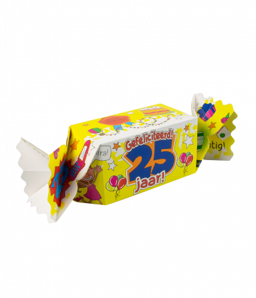 Kado/Snoepverpakking nieuw - 25 jaar
