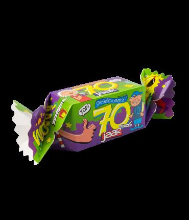 Kado/Snoepverpakking Fun - 70 jaar