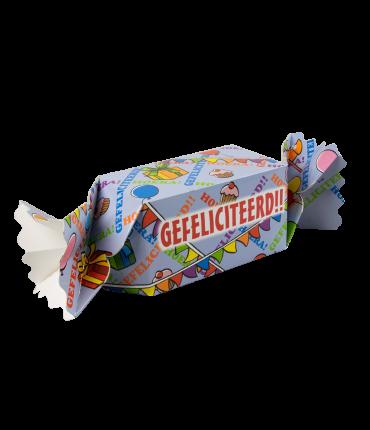 Kado/Snoepverpakking Feest - Gefeliciteerd