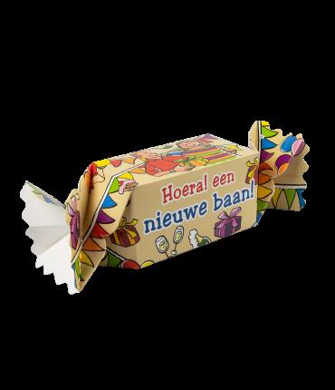 Kado/Snoepverpakking Feest - Nieuwe baan