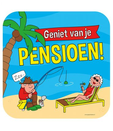 Huldeschild - Pensioen cartoon