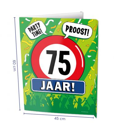 Window signs - 75 jaar