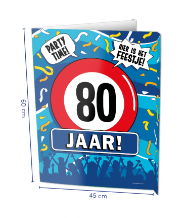 Window signs - 80 jaar