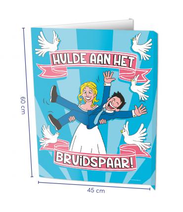 Window signs - Bruidspaar