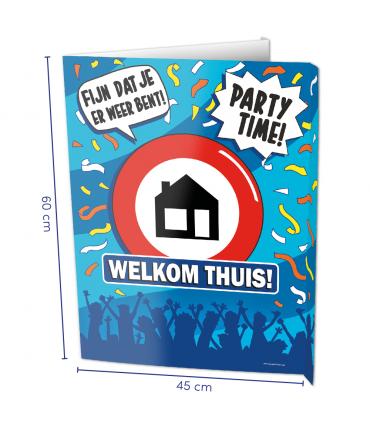 Window signs - Welkom thuis