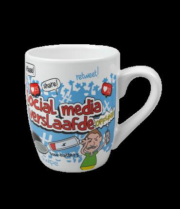 Cartoonmok - Social media verslaafde