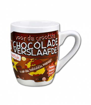 Cartoonmok Chocolade verslaafde