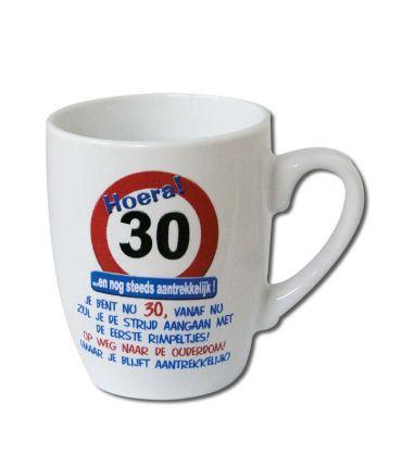 Verkeersbord mok - 30 jaar