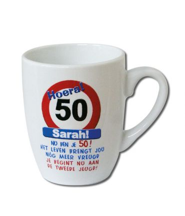Verkeersbord mok - Sarah