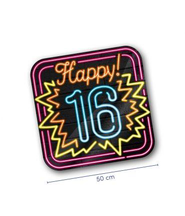 Neon decoration signs - 16 jaar