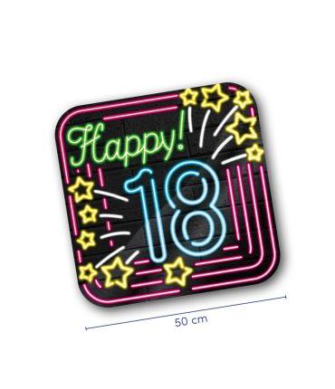 Neon decoration signs - 18 jaar