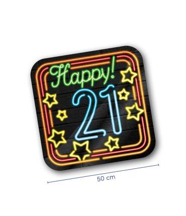 Neon decoration signs - 21 jaar