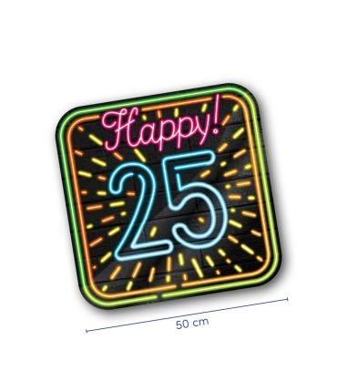 Neon decoration signs - 25 jaar