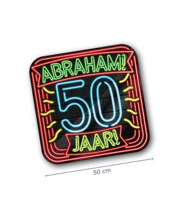 Neon decoration signs - Abraham