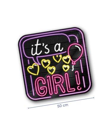 Neon decoration signs - Geboorte Meisje