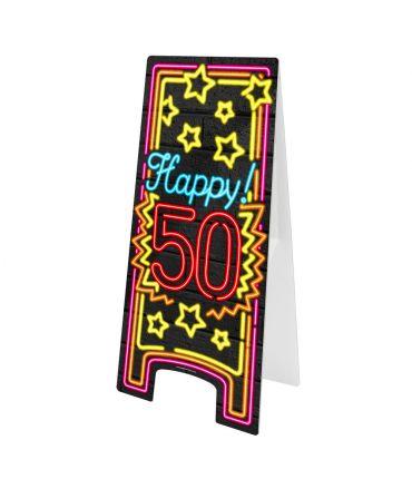 Neon Warning Sign - 50 jaar