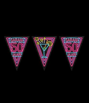 Neon party flag - Sarah
