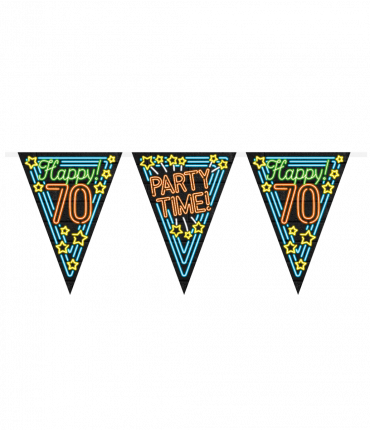 Neon party flag - 70