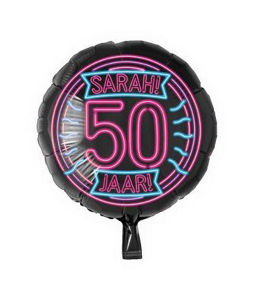 Neon Foil balloon - Sarah 50