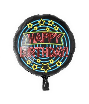 Neon Foil balloon - Happy birthday