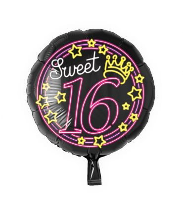 Neon Foil balloon - Sweet 16