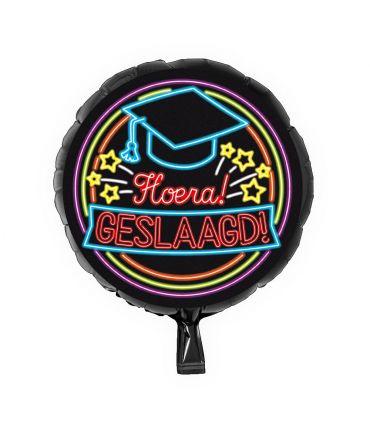 Neon Foil balloon - Geslaagd school