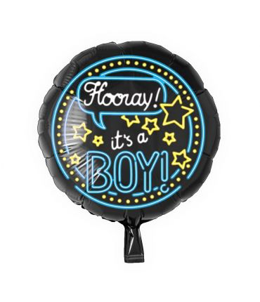 Neon Foil balloon - It's a boy