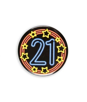 Neon button - 21