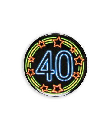 Neon button - 40