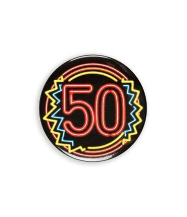 Neon button - 50