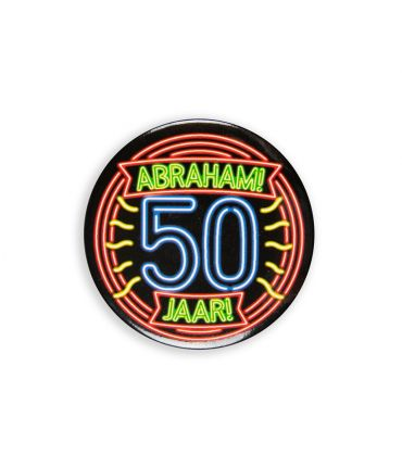 Neon button - Abraham 50