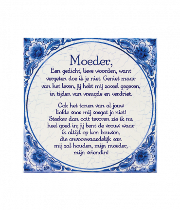 Tegels delfts blauw - Moeder