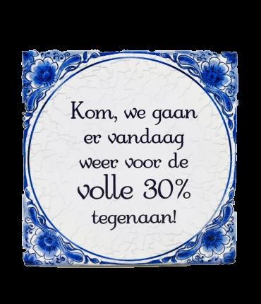 Tegels delfts blauw - 30 %