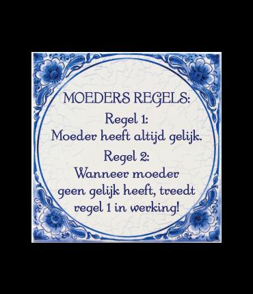 Tegels delfts blauw - Moeders regel