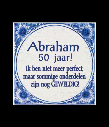 Tegels delfts blauw - Abraham