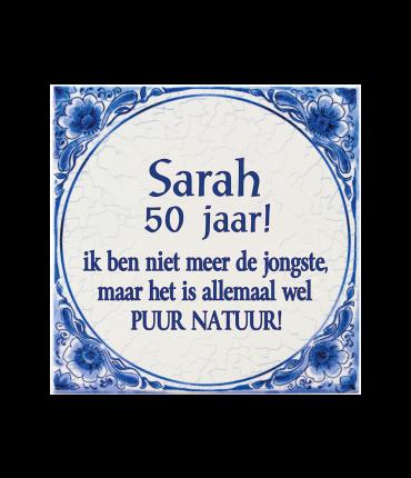 Tegels delfts blauw - Sarah