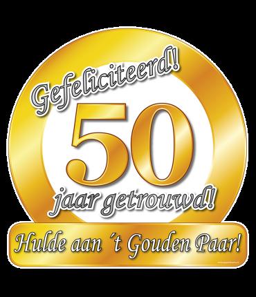 Huldeschild - Special - 50 jaar getrouwd