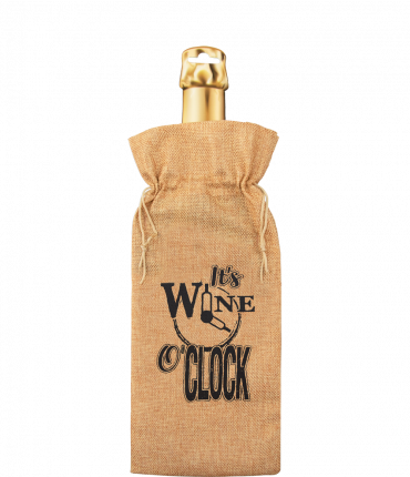Bottle gift bag - It's wine o'clock