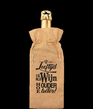 Bottle gift bag - Leeftijd is als wijn