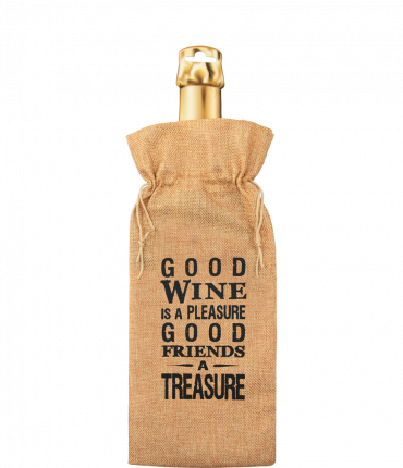 Bottle gift bag - Good wine is a pleasure