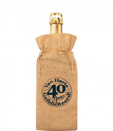 Bottle gift bag - 40 jaar
