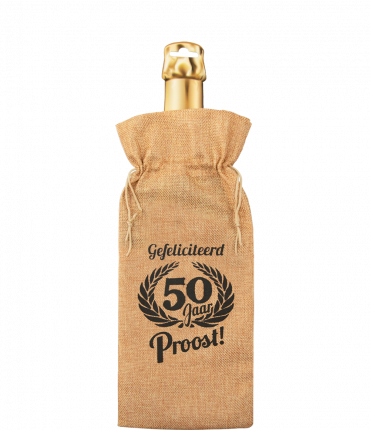 Bottle gift bag - 50 jaar