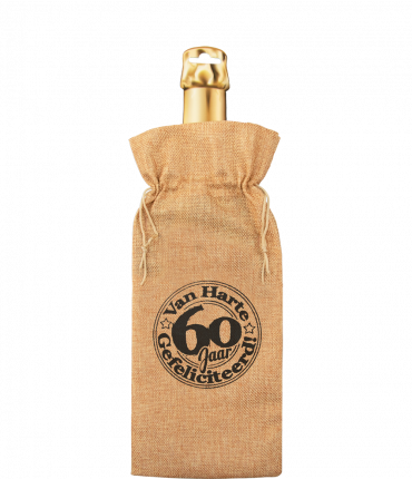 Bottle gift bag - 60 jaar