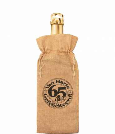 Bottle gift bag - 65 jaar