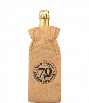 Bottle gift bag - 70 jaar