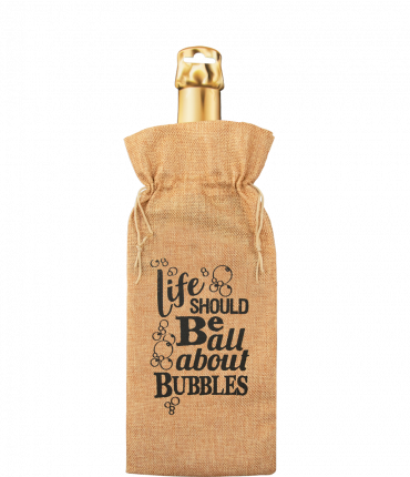 Bottle gift bag - Bubbles