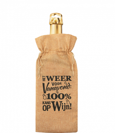 Bottle gift bag - Weersverwachting
