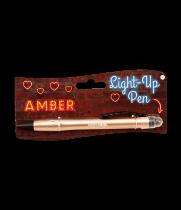 Light up pen - Amber