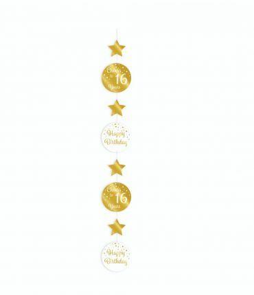 Hanging decoration gold/white - 16