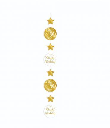 Hanging decoration gold/white - 50